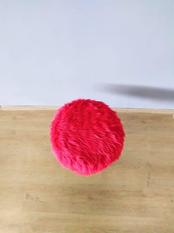 Kırmızı Peluş Puf