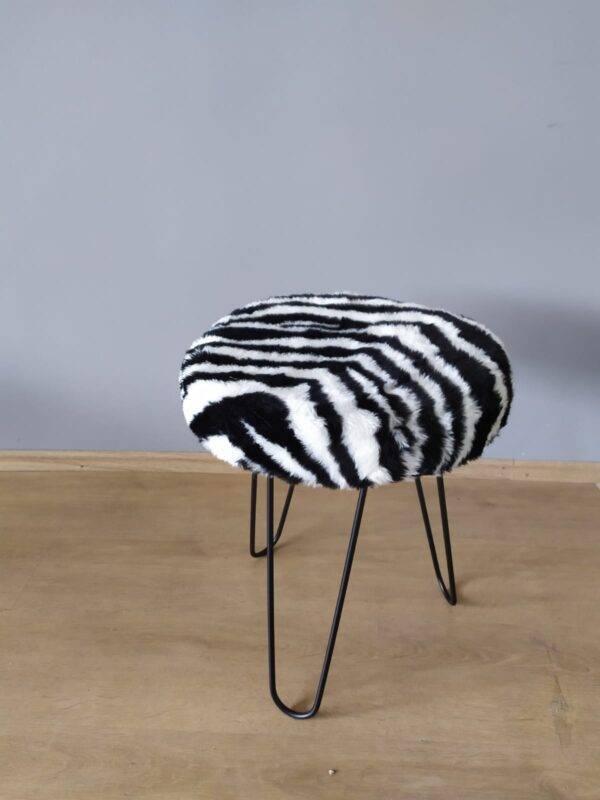 Zebra Peluş Puf